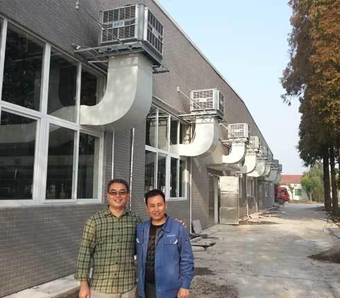 八宝制衣厂环保空调降温工程